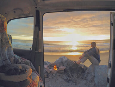 Van with a view. Photo by Alison Turner.